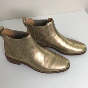 Madewell Shoes - Madewell Ainsley Chelsea Metallic Ankle Boots